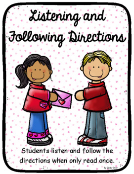 Listening and Following Directions ~ Valentine's Day