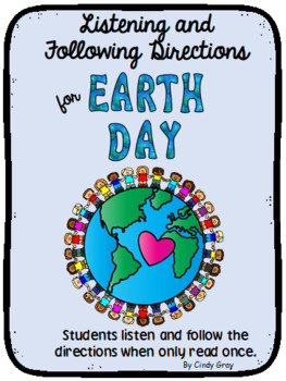 Listening and Following Directions ~ Earth Day