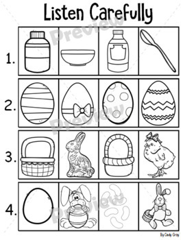 Listening and Following Directions ~ Easter Themed