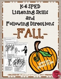 Listening and Following Directions - FALL
