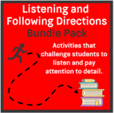 Listening and Following Directions Growing Bundle + Readin