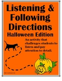 Listening and Following Directions Halloween Edition + Rea