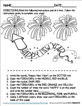 Listening and Following Directions - Holiday FREEBIE