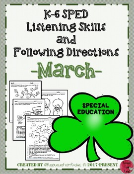 Listening and Following Directions - March