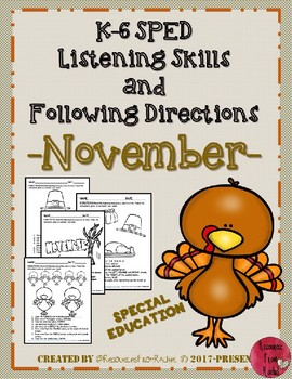 Listening and Following Directions - November