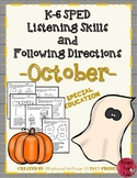 Listening and Following Directions - October