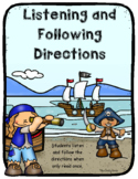 Listening and Following Directions ~ Pirate Themed