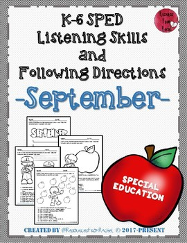 Listening and Following Directions - September