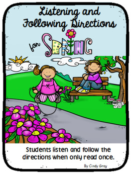 Listening and Following Directions ~ Spring