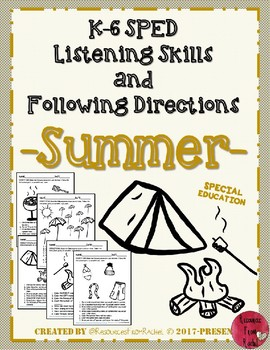 Listening and Following Directions - Summer