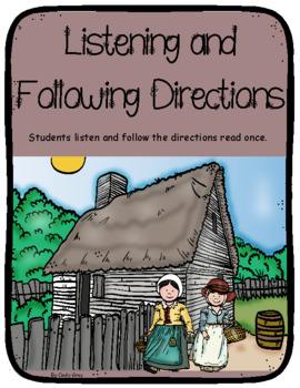 Listening and Following Directions ~ Thanksgiving Themed