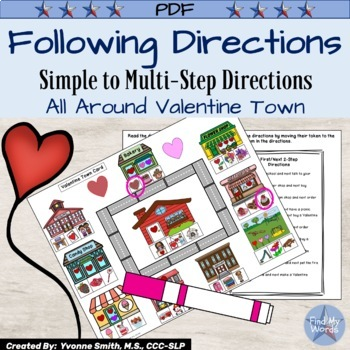 Listening and Following Directions Valentine Activity
