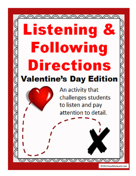 Listening & Following Directions Valentine's Day Edition +Reading Comprehension