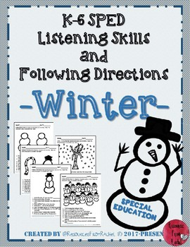 Listening and Following Directions - Winter Theme