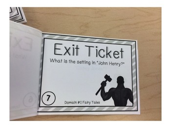 Listening and Learning Domain 1 Fairy Tales and Tall Tales Exit Ticket