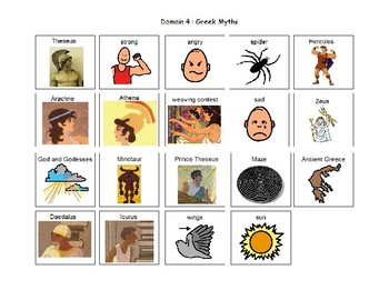 Listening and Learning Domain 4 : Greek Myths visuals
