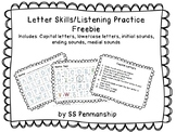 Listening and Letter Skills Freebie