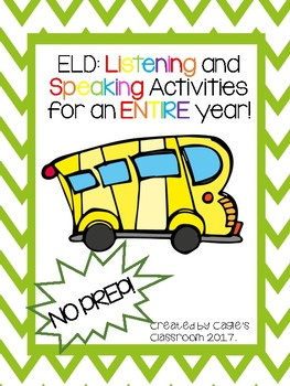 Listening and Speaking Activities (ELD)
