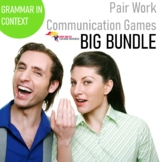 Listening and Speaking ESL Pair Work Bundle for Adults