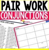 Listening and Speaking ESL Pair Work Conjunctions (and, so