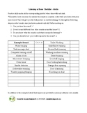 Listening at Home Checklist - Adults