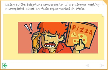 Listening comprehension - A Customer Complaint
