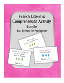 French listening comprehension activity BUNDLE for 1jour1a