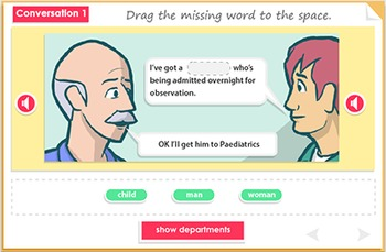 Listening comprehension - hospital conversations