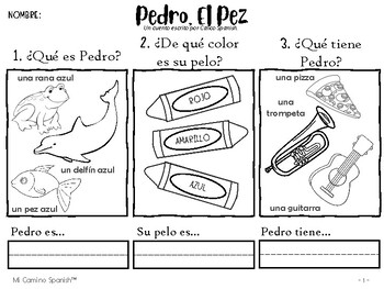 Listening exercise for young Spanish students!