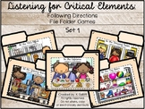 Listening for Critical Elements: Following Directions File Folder Games