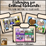 Listening for Critical Elements Folder Games: Easter Edition