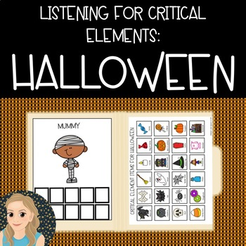 Listening for Critical Elements: Halloween