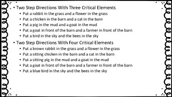 Listening for Critical Elements using Melissa and Doug Farm Reusable Stickers