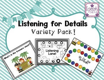 Listening for Details Variety Pack