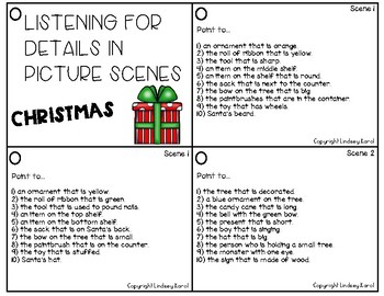Listening for Details in Picture Scenes: Christmas