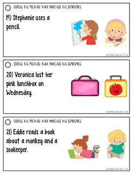 Listening for Details in Sentences: Back to School Edition