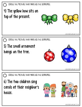 Listening for Details in Sentences: Christmas Edition