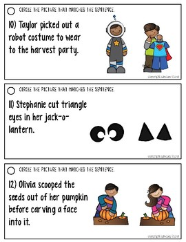 Listening for Details in Sentences: Halloween Edition