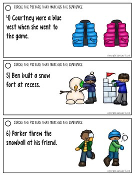 Listening for Details in Sentences: Winter Edition