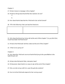 Listening for Lions Comprehension Questions