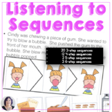 Sequencing Stories with Pictures for Speech Language Therapy