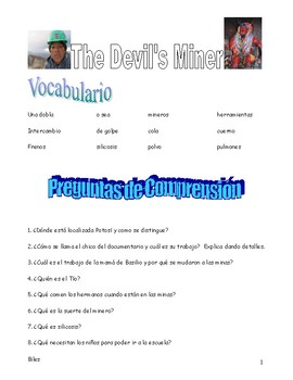 """Listening guide questions for """"Devils Miner"""""""