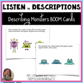 Listening to Descriptions Describing Monsters Speech Thera
