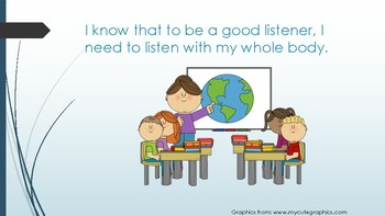 Social Story- Listening to My Teachers