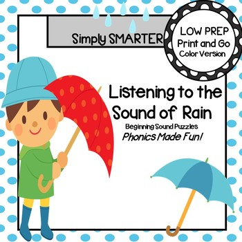 Listening to the Sound of Rain:  LOW PREP Beginning Sound Puzzles