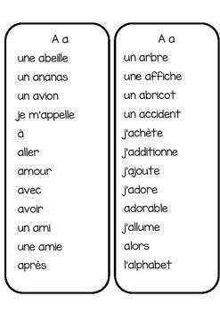 Listes de mots pour l'étude de mots