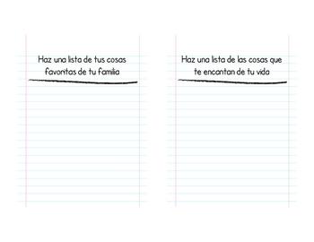 Listography Book (Listografia) for Pre-Writing (Bilingual)