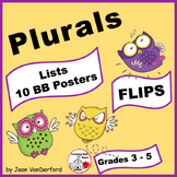 PLURAL NOUN WORD LISTS   Interactive FLIPS  ♥  Rules ... BB Posters   Gr. 3-4-5