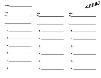 Lists (Tri-Fold)