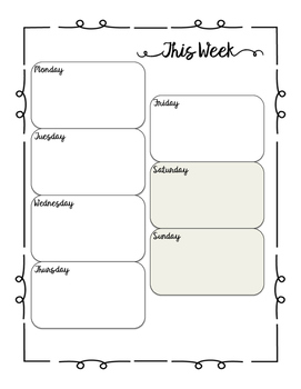 Lists and Weekly Calendars
